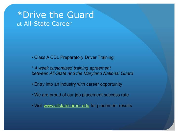 *Drive the Guard