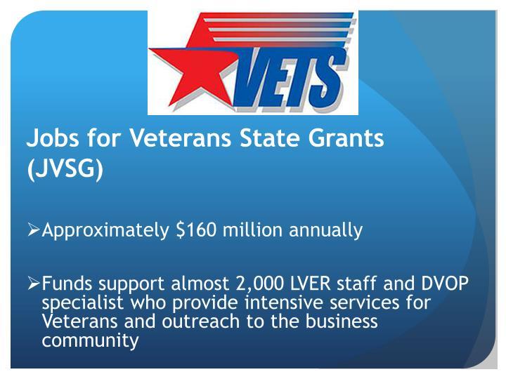 Jobs for Veterans State Grants (JVSG)