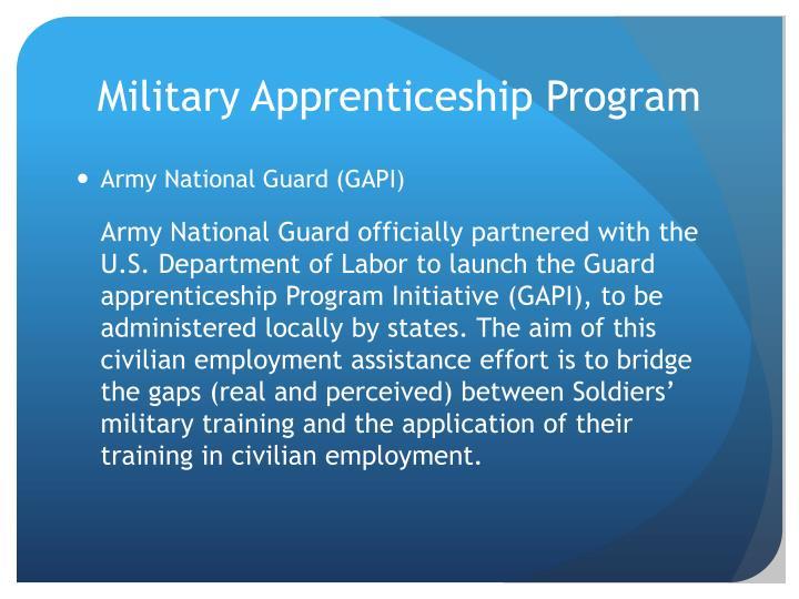 Military Apprenticeship Program