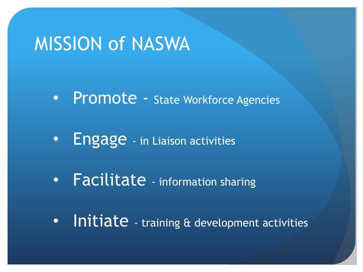 MISSION of NASWA
