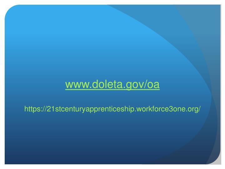 www.doleta.gov/oa