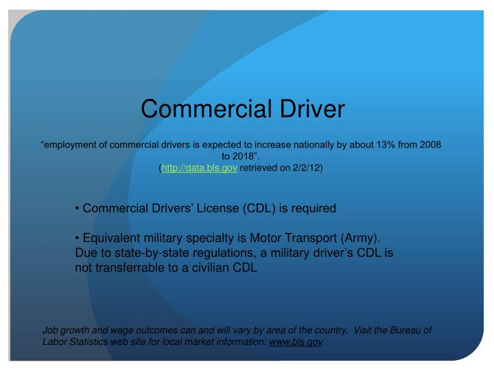 Commercial Driver