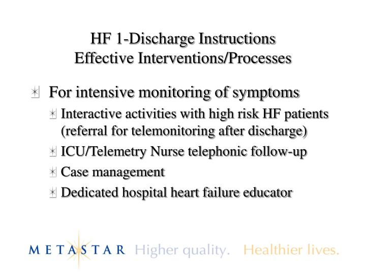HF 1-Discharge Instructions