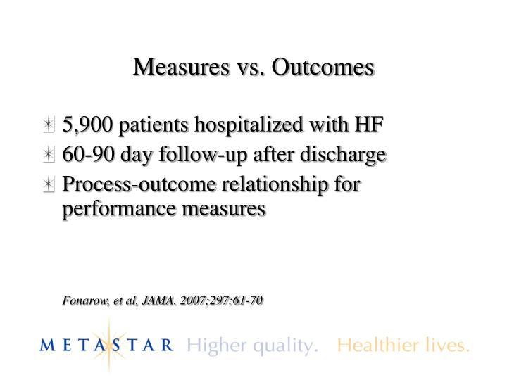 Measures vs. Outcomes