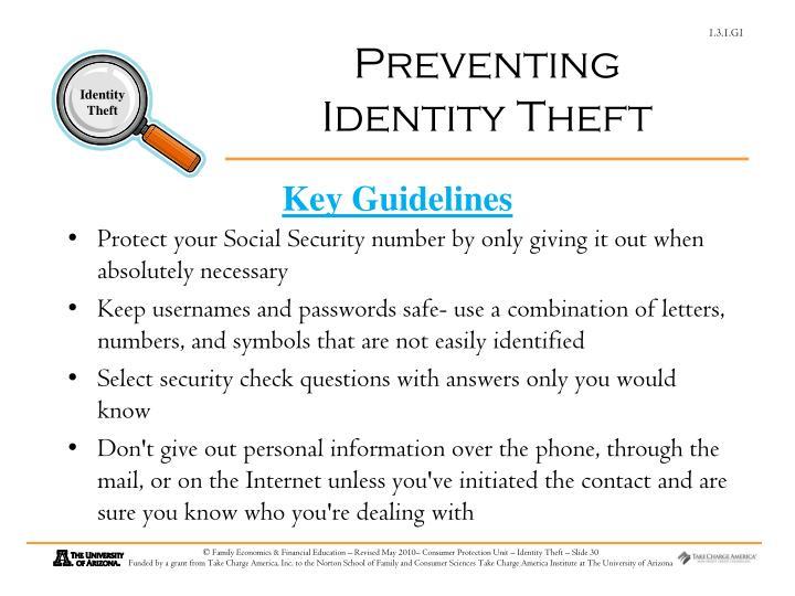 Preventing