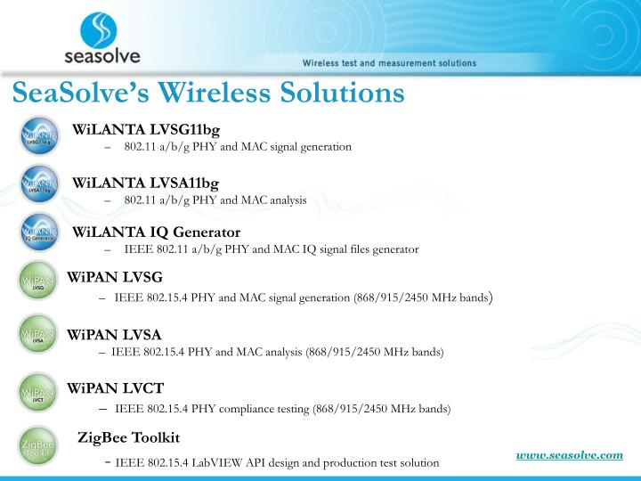 SeaSolve's Wireless Solutions