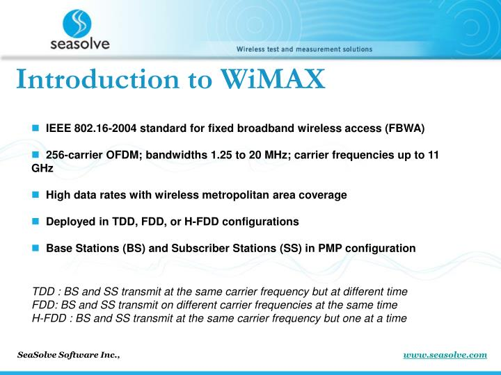 Introduction to WiMAX