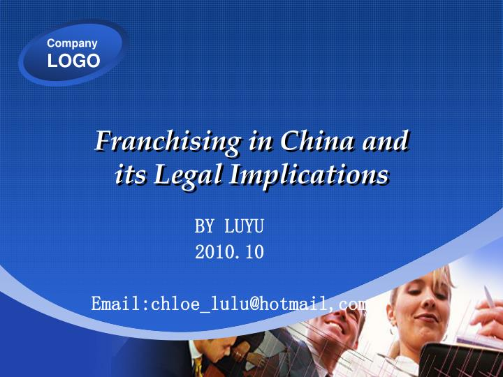 Franchising in China and
