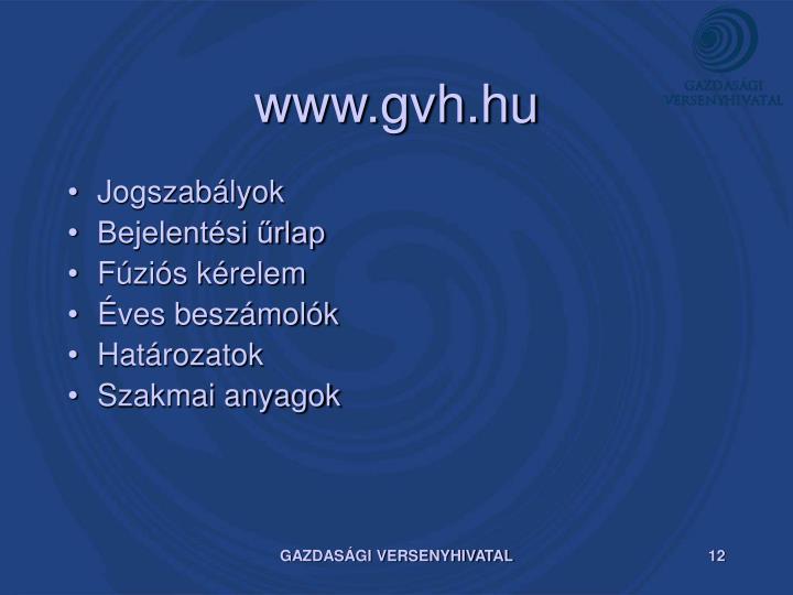 www.gvh.hu