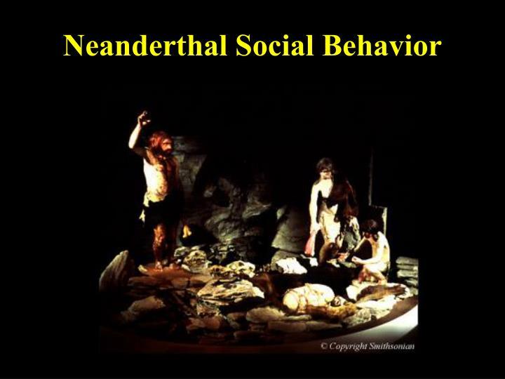 Neanderthal Social Behavior