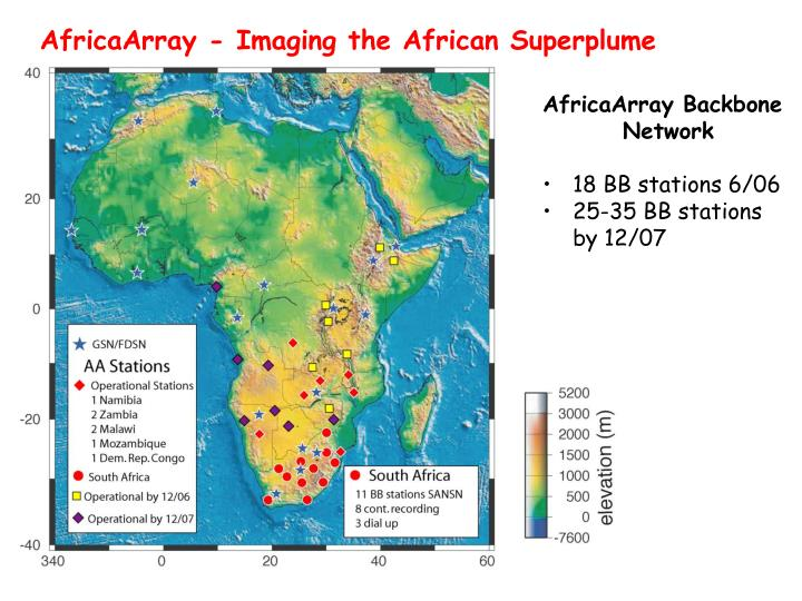 AfricaArray - Imaging the African Superplume