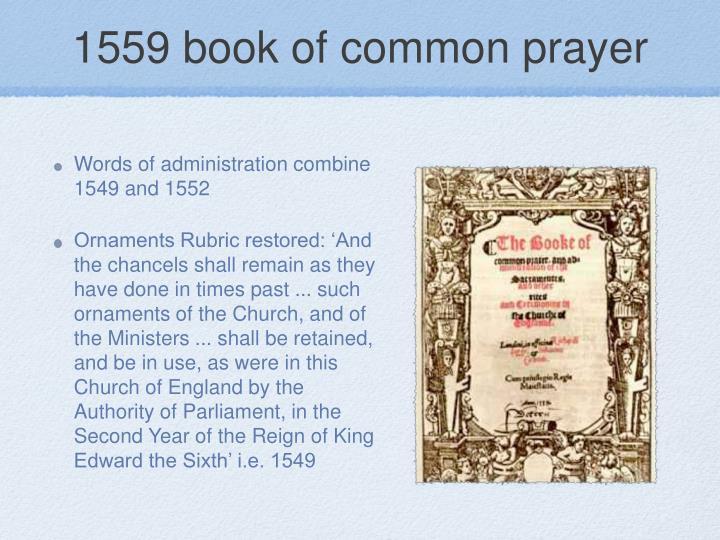 1559 book of common prayer