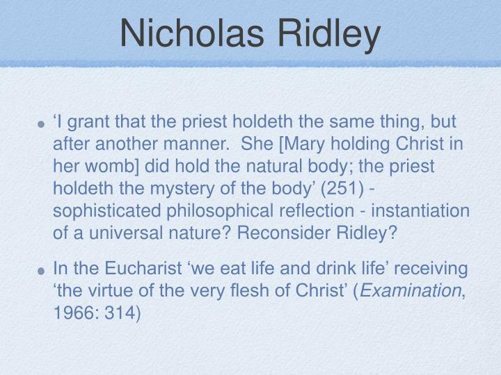 Nicholas Ridley