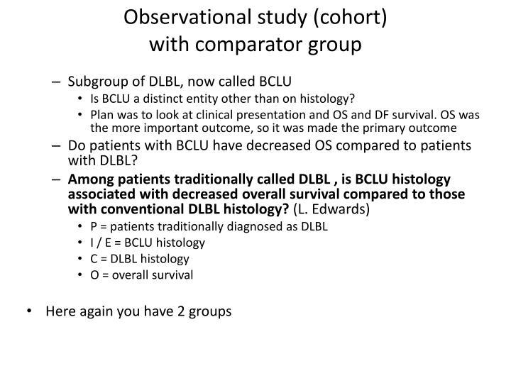 Observational study (cohort)