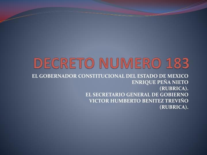 Decreto numero 183