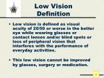 low vision definition