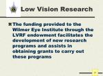 low vision research