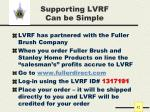 supporting lvrf can be simple