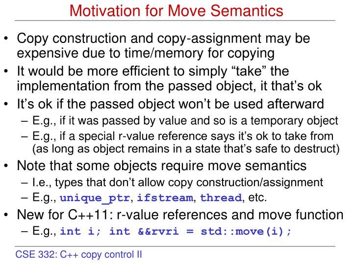 Motivation for move semantics