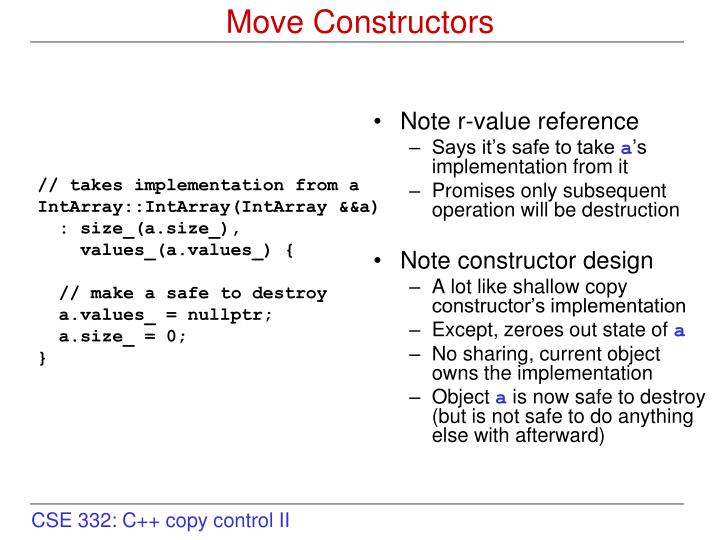 Note r-value reference
