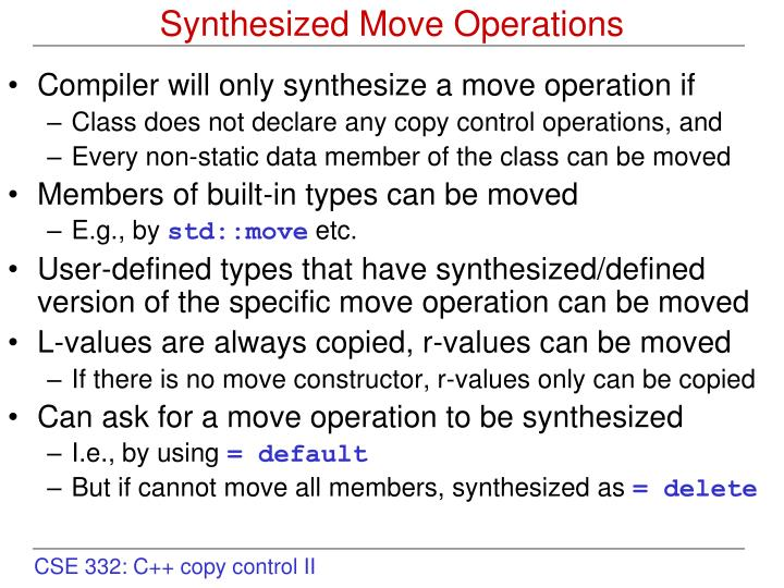 Synthesized move operations