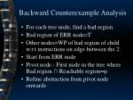 backward counterexample analysis