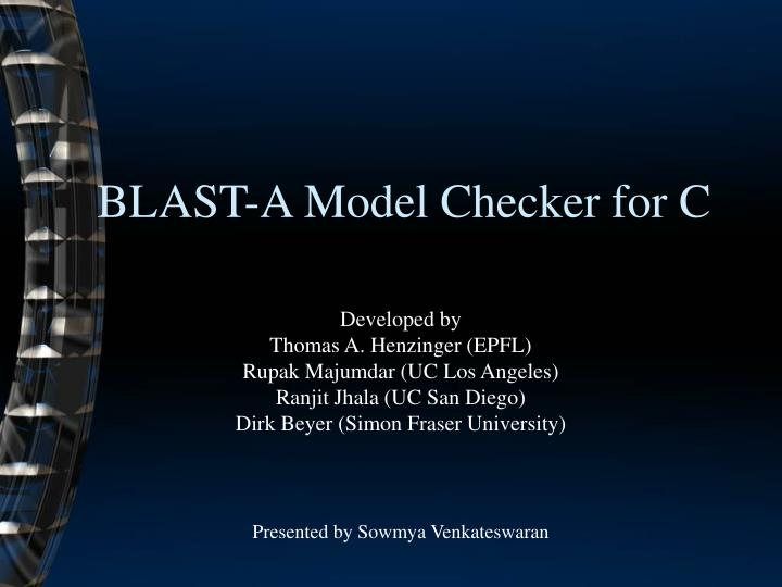 blast a model checker for c n.