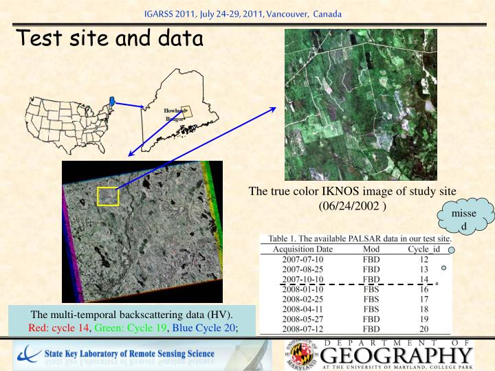 The true color IKNOS image of study site (06/24/2002 )