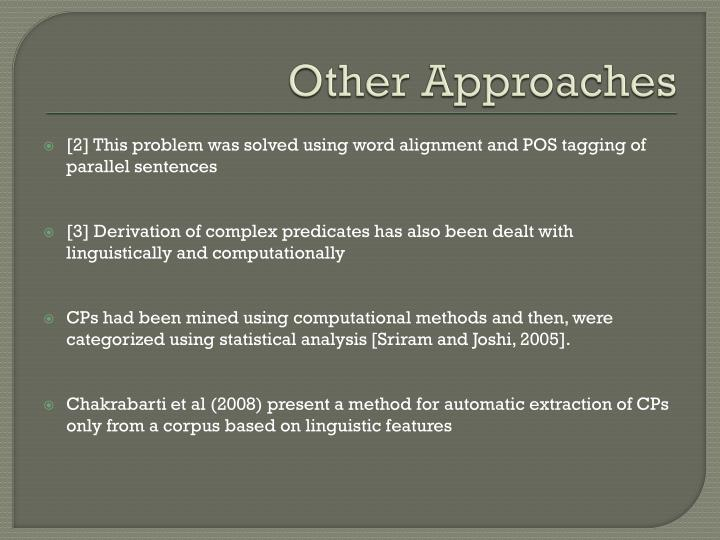 Other Approaches