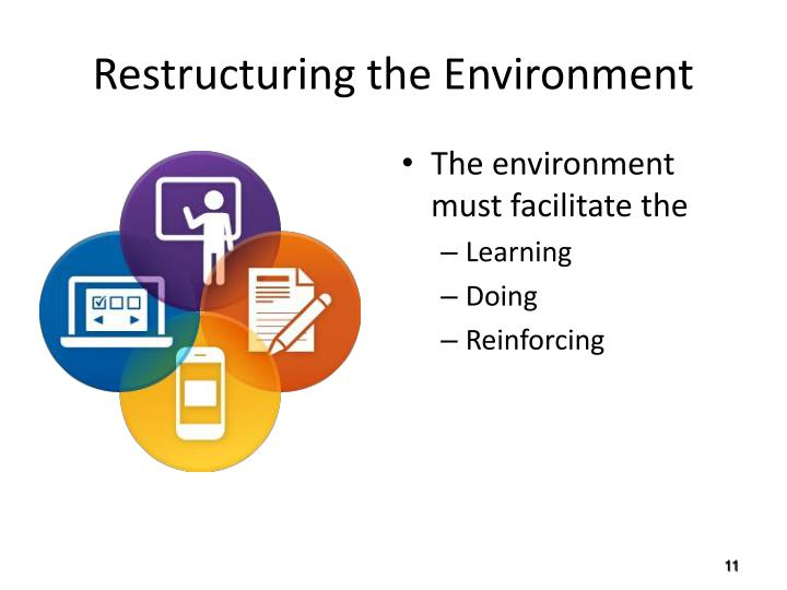 Restructuring the Environment