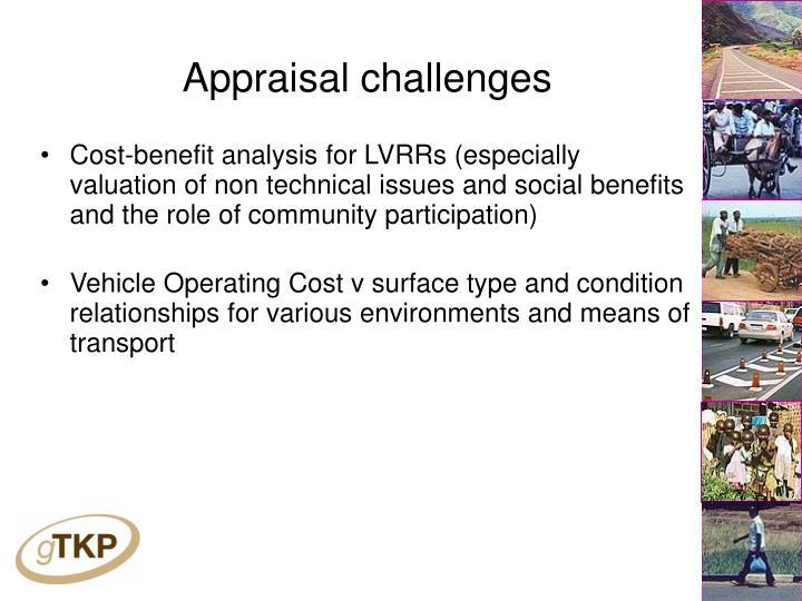 Appraisal challenges