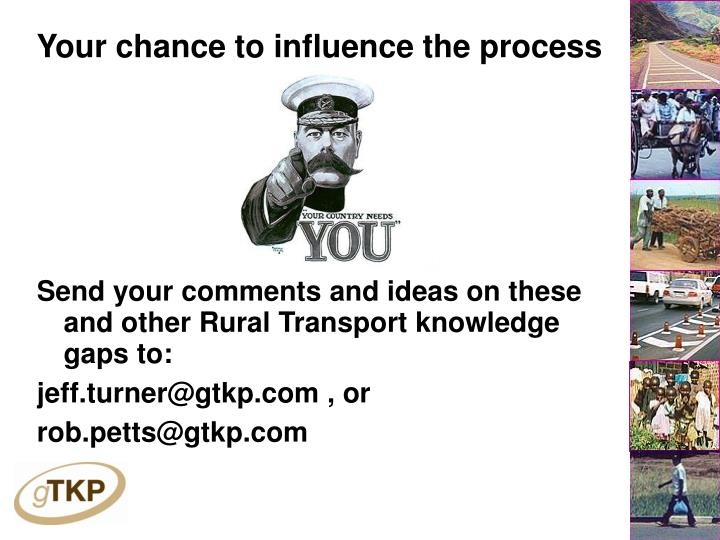 Your chance to influence the process