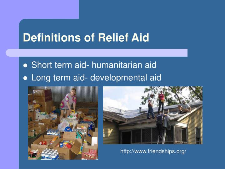 Definitions of Relief Aid