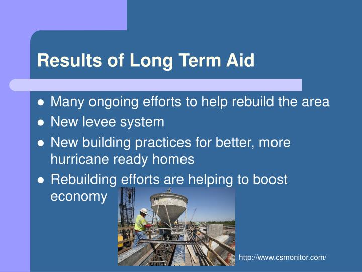 Results of Long Term Aid