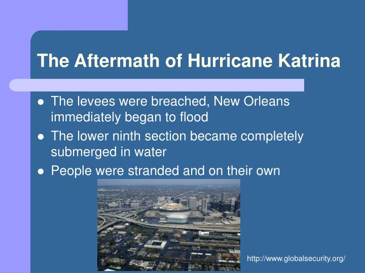 The Aftermath of Hurricane Katrina