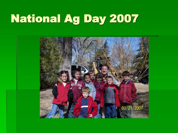 National ag day 2007