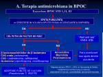 a terapia antimicrobiana in bpoc