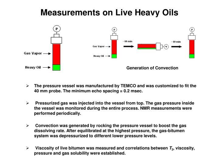 Measurements on Live Heavy Oils