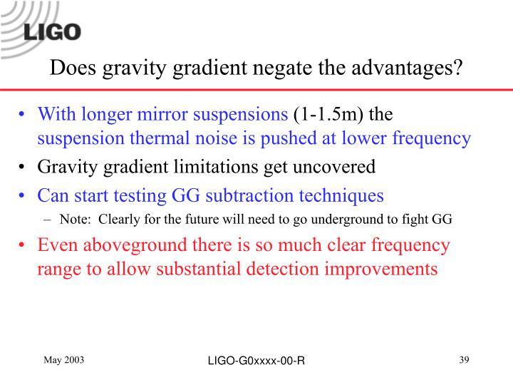 Does gravity gradient negate the advantages?