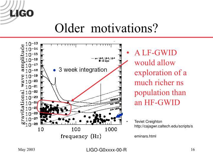 Older  motivations?