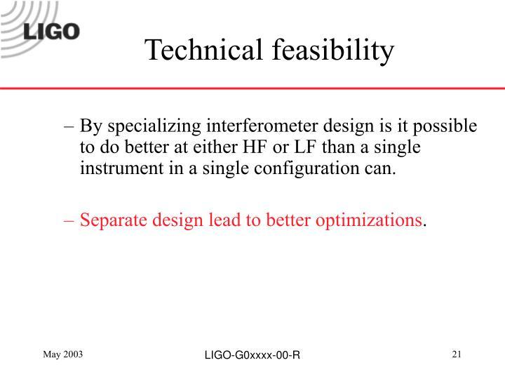 Technical feasibility
