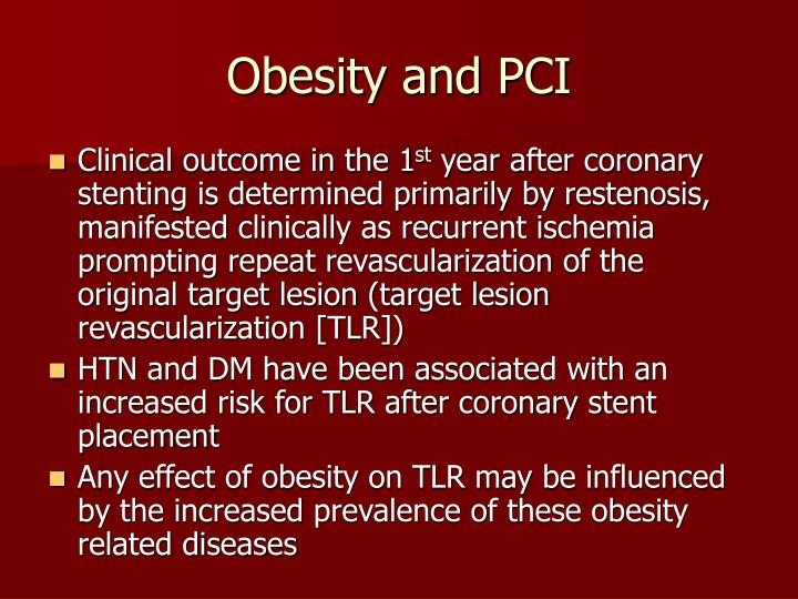 Obesity and PCI