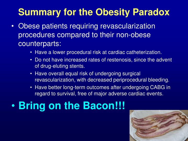 Summary for the Obesity Paradox