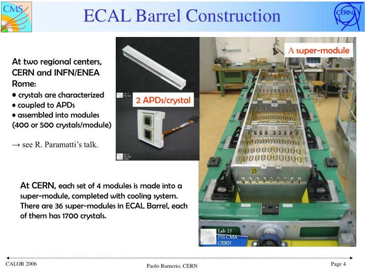 ECAL Barrel Construction
