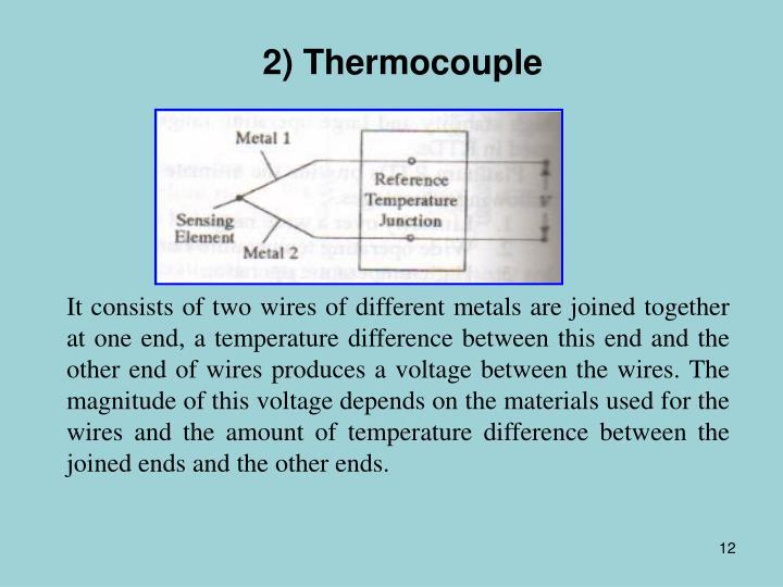 2) Thermocouple