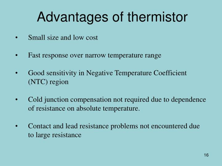 Advantages of thermistor