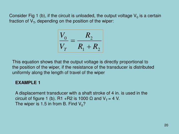 Consider Fig 1 (b), if the circuit is unloaded, the output voltage V