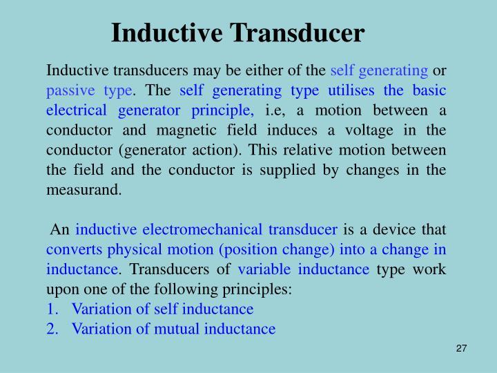 Inductive Transducer