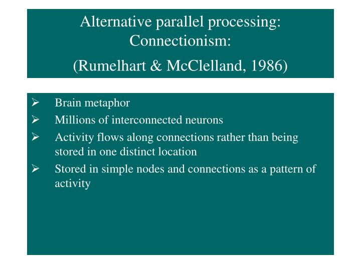 Alternative parallel processing: