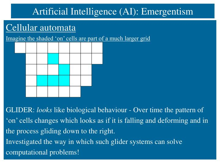 Artificial Intelligence (AI): Emergentism